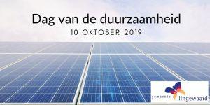 10 oktober 2019: dag van de duurzaamheid